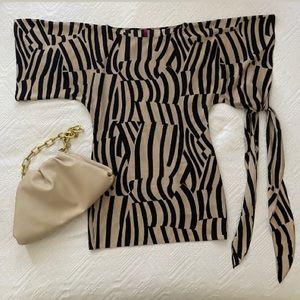 Abi Ferrin Nikki 5 way dress in zebra print!